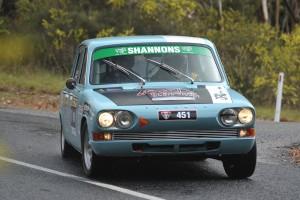 """Nigel"" - Mk1 2500 PI running in Targa Adelaide 2012. Aldgate Valley Road, Mylor. Driver - Jon Williams. Navigator - Ken Bryant."